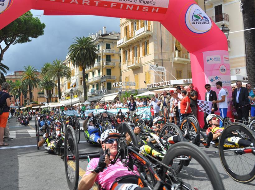 Handbike giro d'italia Rapallo