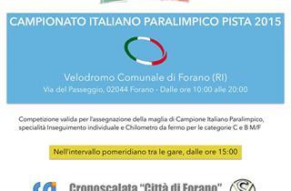 Paralimpico Campionato italiano pista