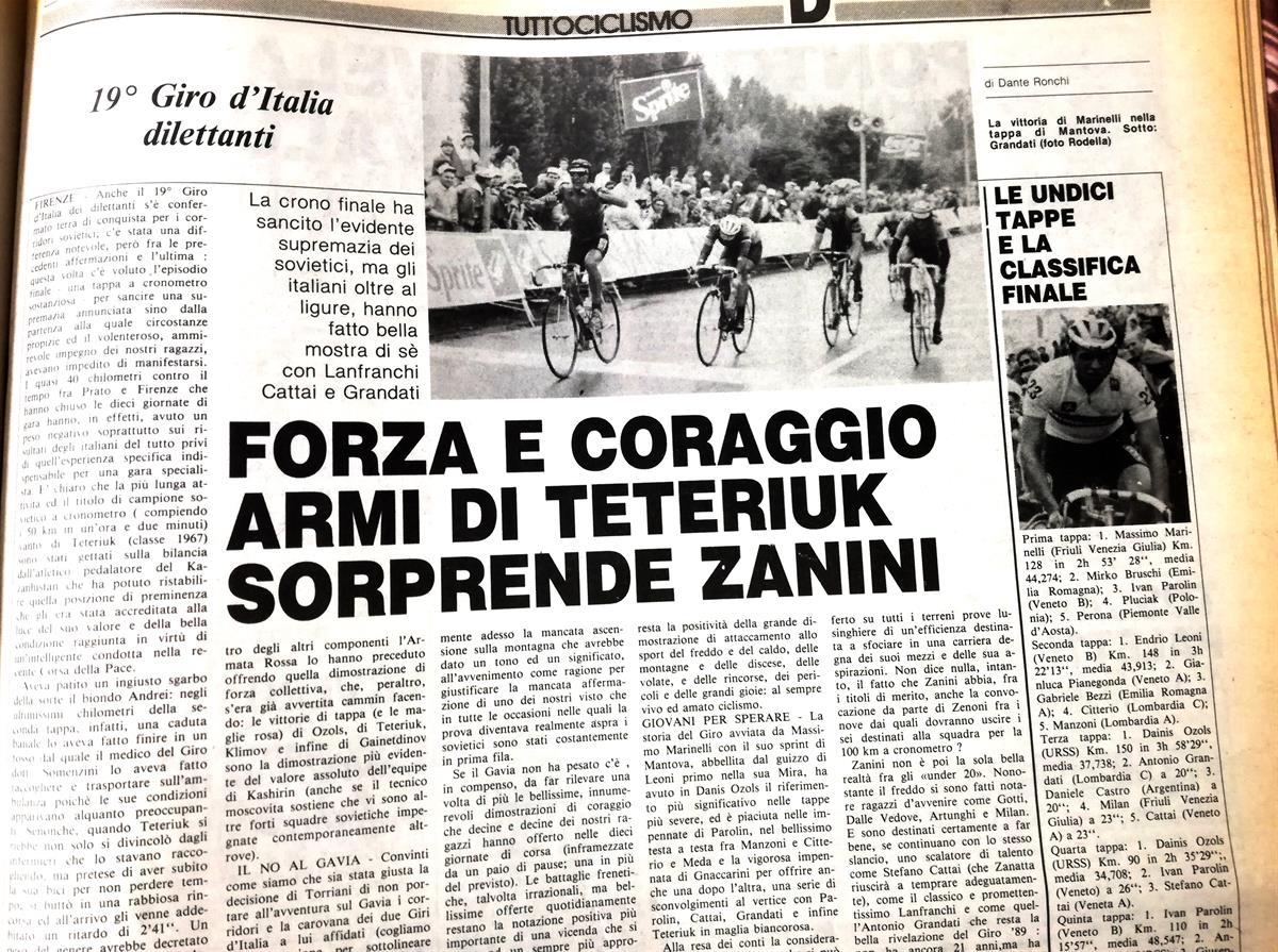 Foto tuttociclismo 1989